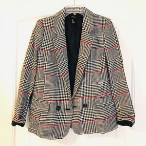 Forever 21 blazer with houndstooth pattern